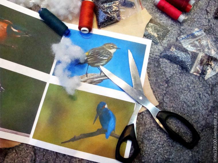 Вышиваем с бисером брошь «Воробушек», фото № 2