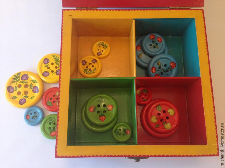 Расписываем яркую шкатулку-развивайку для детей, фото № 37