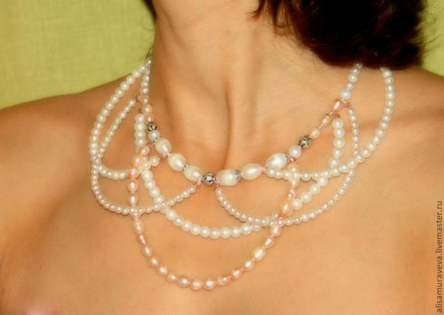 Ожерелье из бусин своими руками мастер класс видео