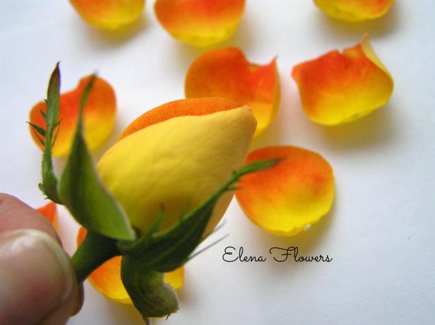 цветы ручной работы, заколка