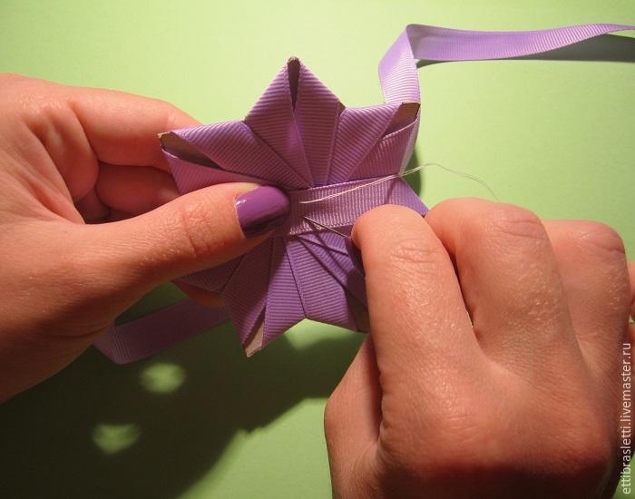 Собираем простой цветочек из ленты, фото № 8