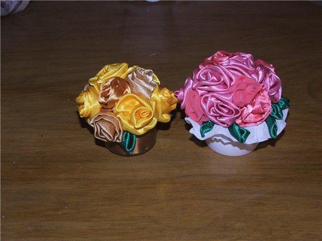 текстильные цветы
