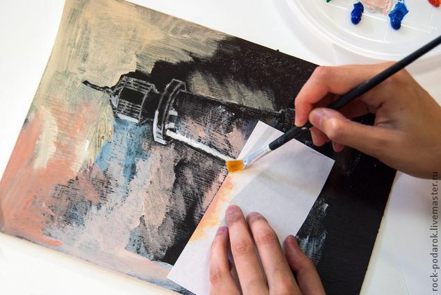 Рисовать сухой кистью