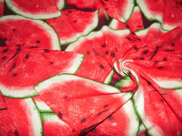 трикотаж с фруктами