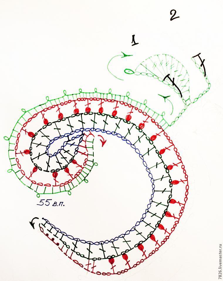 схема вязаного элемента