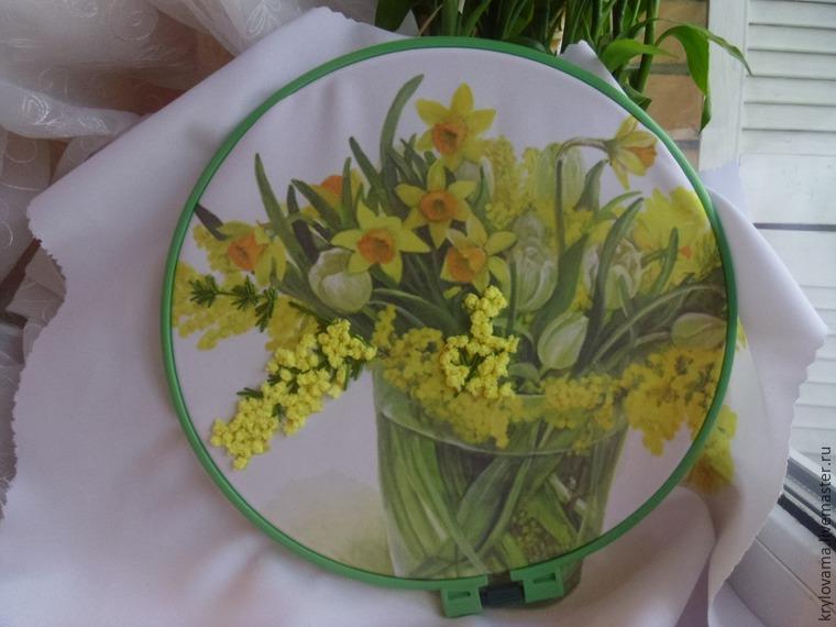 Тюльпаны из лент своими руками фото