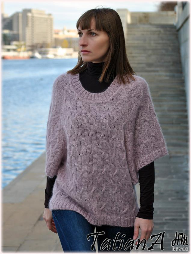 вязыный пуловер