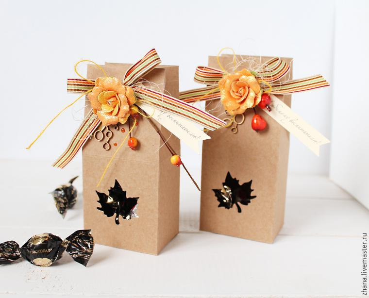 Gift box with your own hands