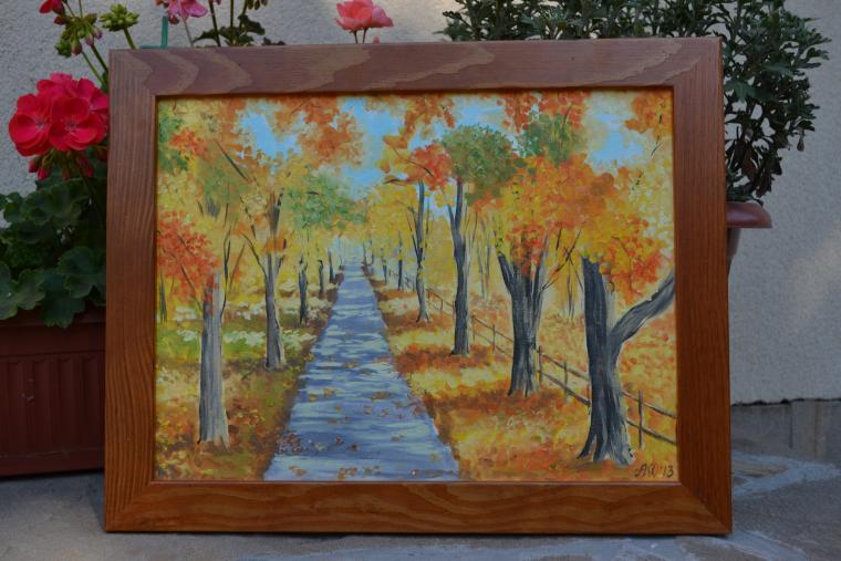 картина, анна кшановская-орлова, масляная живопись, картину, осень