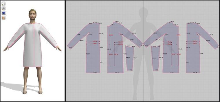 выкройка разработка лекал, 3d моделирование одежды