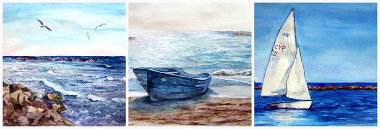 скетч, арт-студия, москва, обучение рисованию, живопись, морской пейзаж