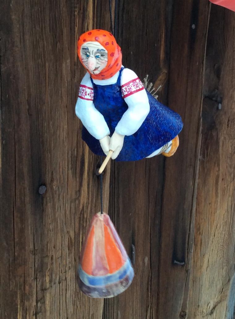 Баба яга на метле поделка 34