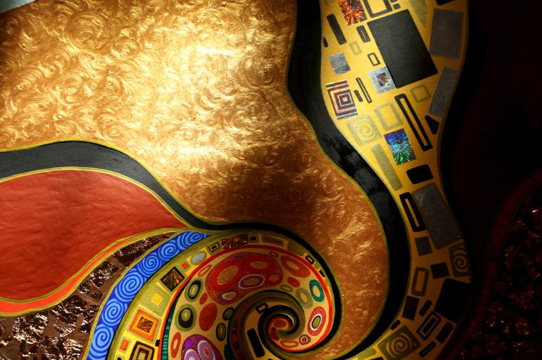 орнамент картина климт
