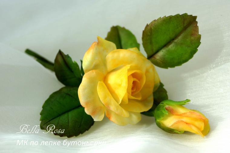 лепка из пластики, цветы из полимерной глины
