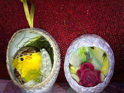 Пасхальные яйца в виде гнезда