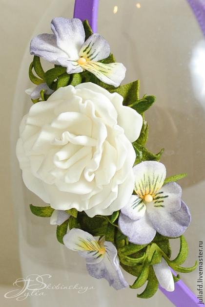 мастер-класс по лепке, фоам, цветы, украшения с цветами