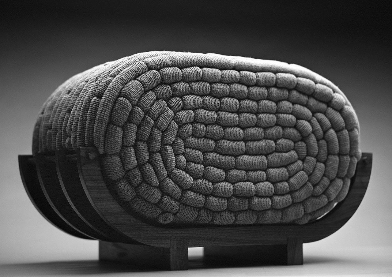 Необычные вязаные диваны, фото № 1