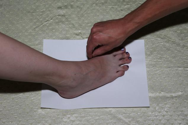 как снять мерки стопы