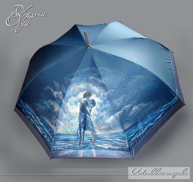 зонт с росписью, подарок девушке