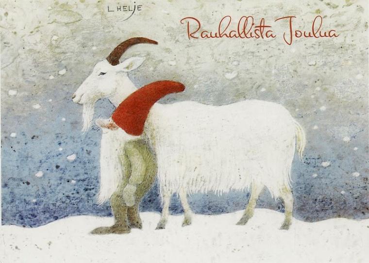 Картинки, финские открытки с новым годом