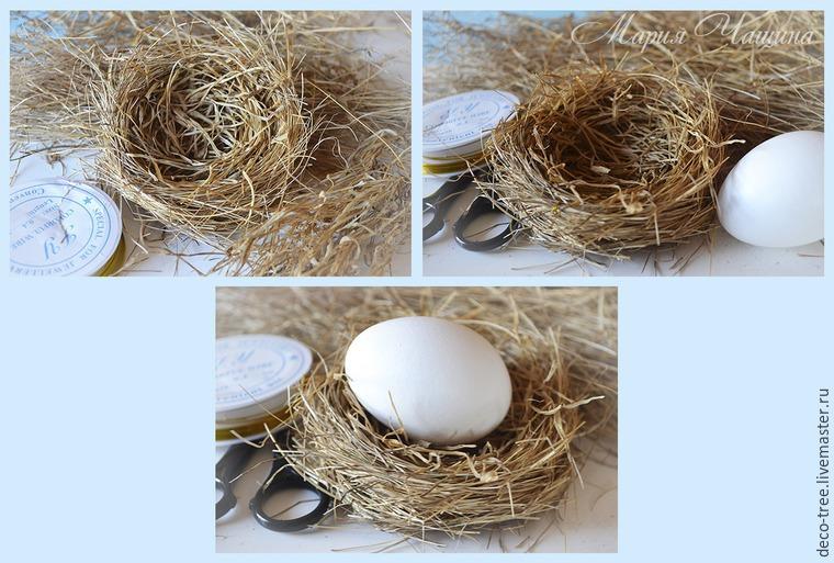 Мастер-класс: пасхальное яйцо в гнезде и подарочной коробочке, фото № 12