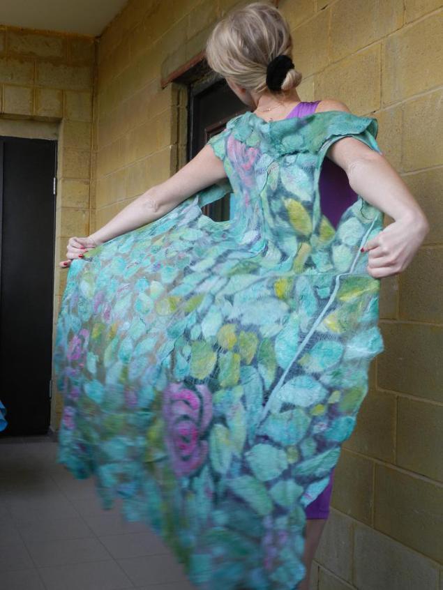 Видео мастер класс валяние платья