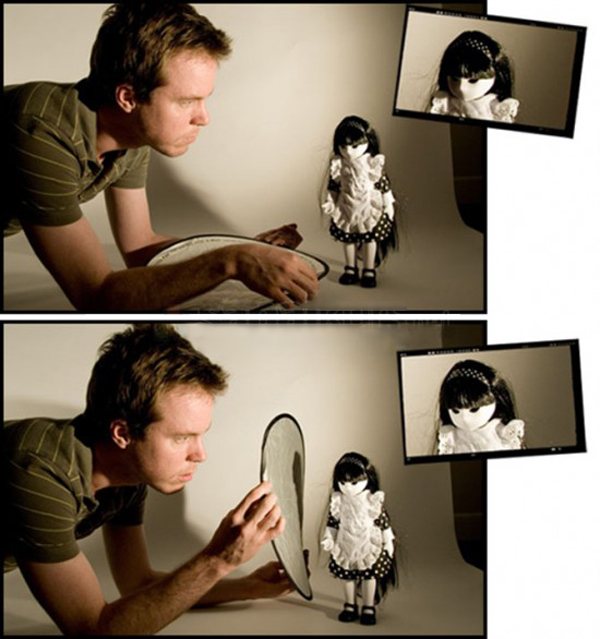 Как использовать отражатель при фотосъемке