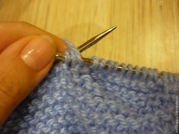 Вязание получаются дырки