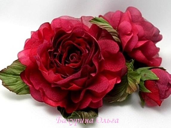 роза, цветы ручной работы, цветоделие, бульки, мастер-класс