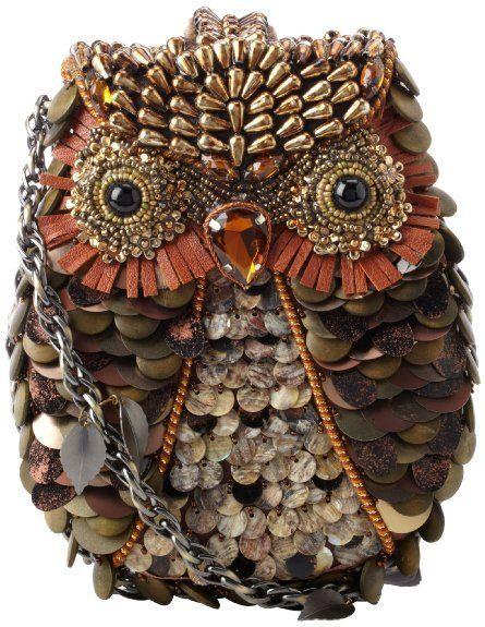 Amazon.com: saco de Ombro Mary Frances acessorios O Opaco UMA buzina, Bronze multi, hum tamanho: Shoes