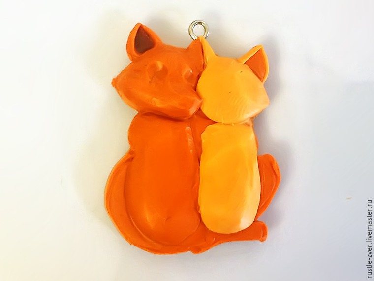 Modeling A Pendant Foxes in Love, фото № 14