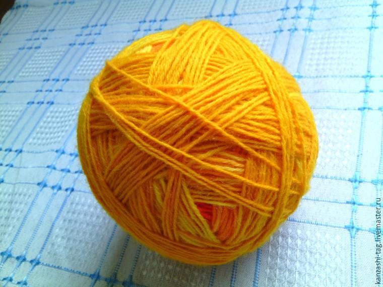 Красим старый шарф с помощью красителей для яиц, фото № 17