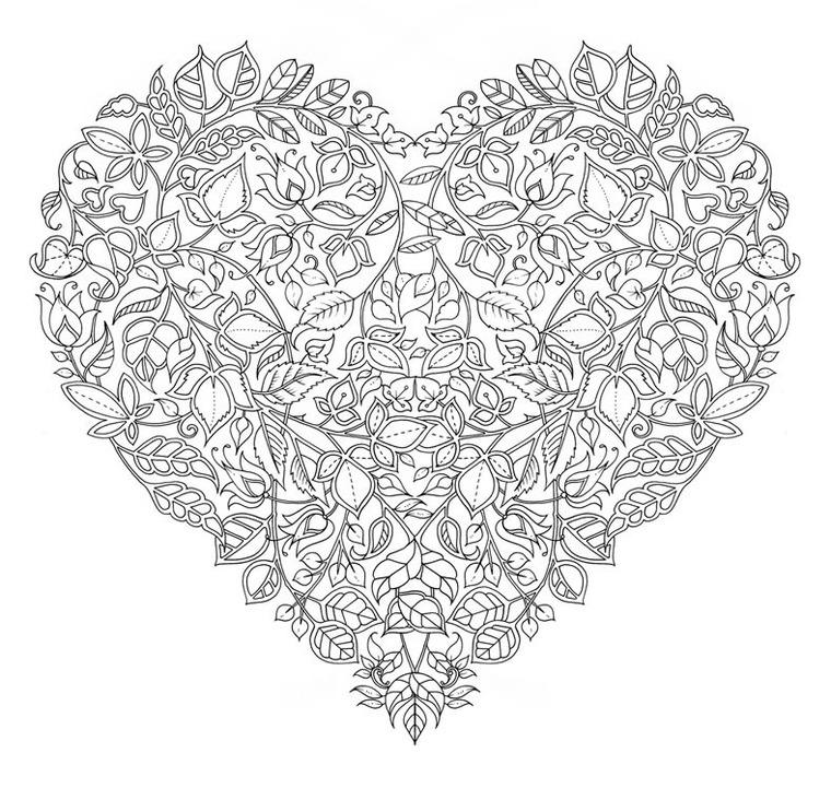 Шрифты для, раскраска антистресс сердечки