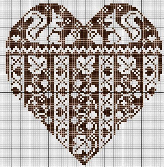 Схема вышивки двухсторонним крестом