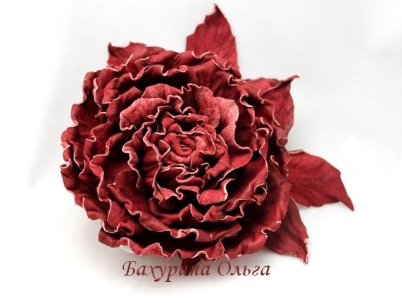 цветы, цветы из кожи, кожаные цветы, мастер-класс