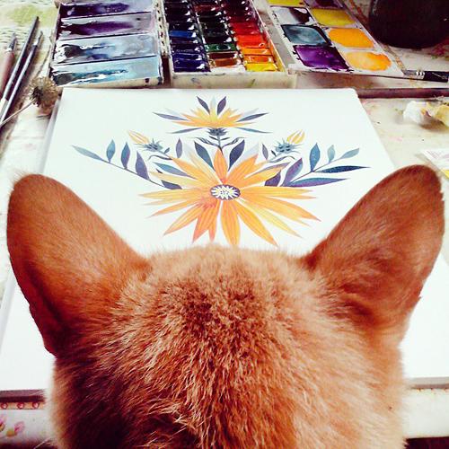 кот, котики, котенок, новости магазина, отдых, рисунки, рисунок