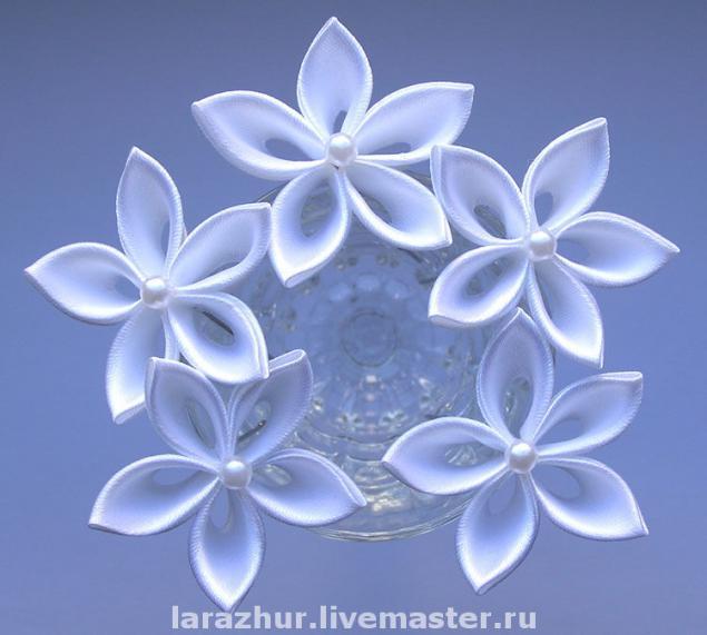 Мастер-класс цветы из лент канзаши