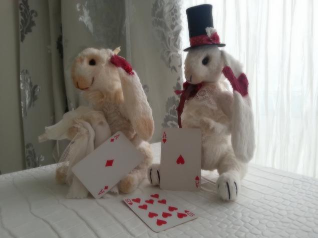 мишки-тедди, зайка, авторские мишки тедди, коллекционная кукла