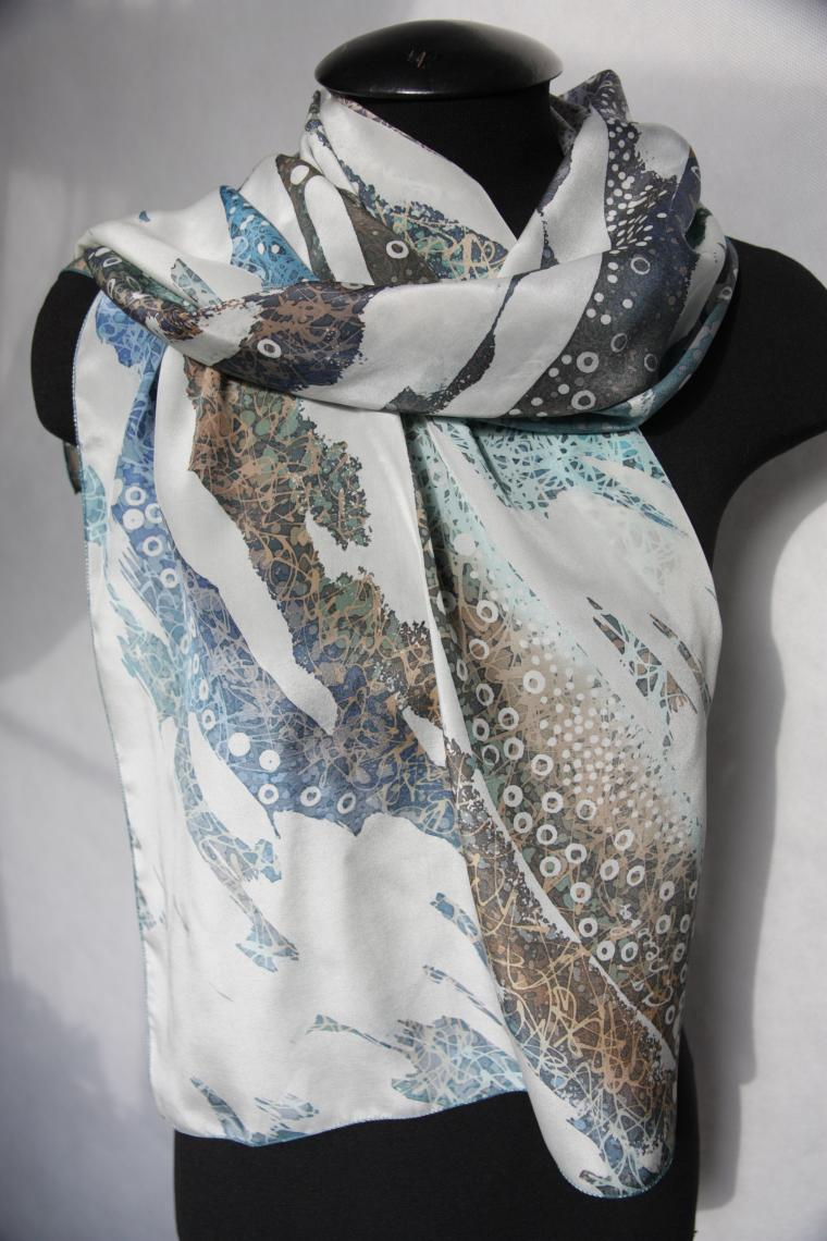 батик, шарфы на шелке, эксклюзив