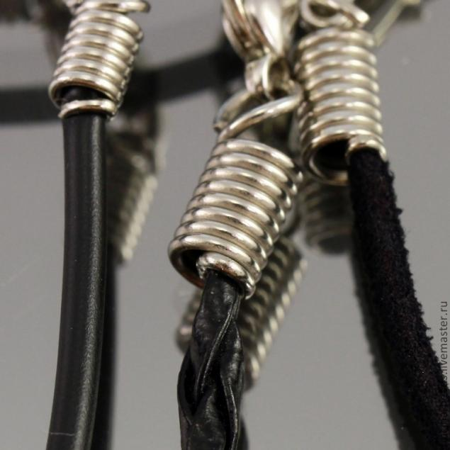 Как закрепить шнур в концевике пружинке - Ярмарка Мастеров - ручная работа, handmade