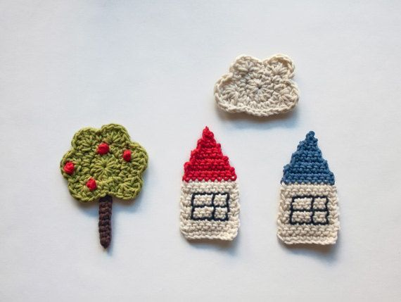 PDF Crochet Pattern  The Tree the Houses and by oneandtwocompany, $3.75