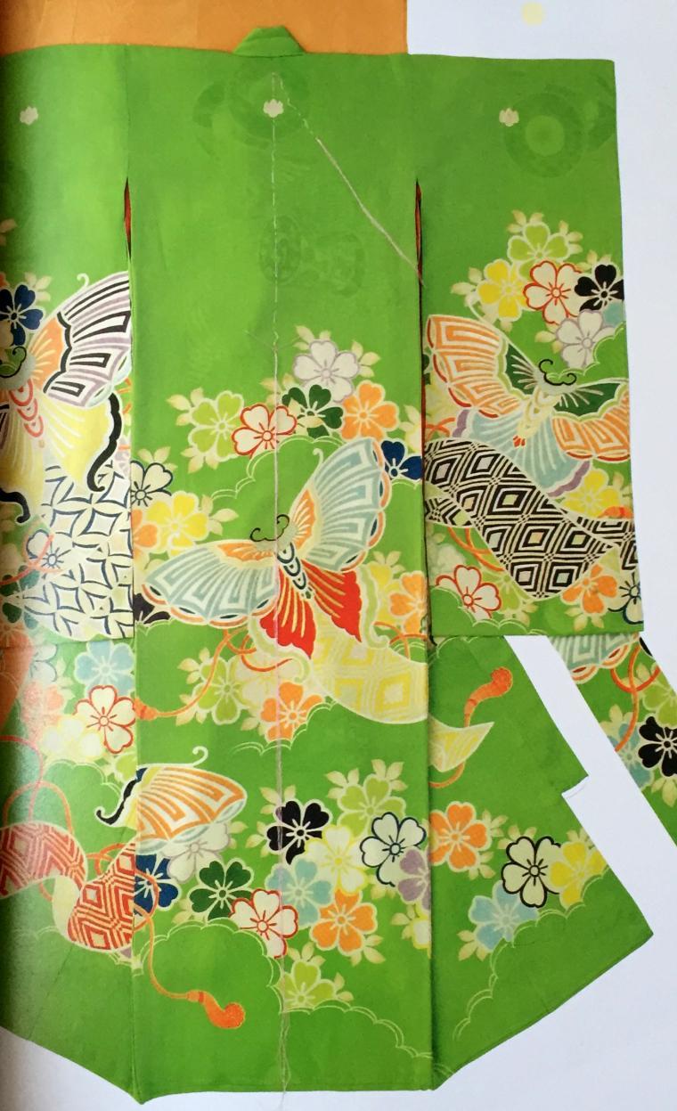 кимоно, вышивка