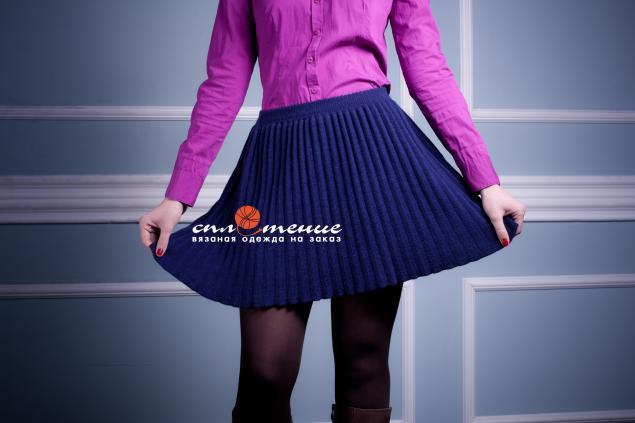 Вяжем юбку плиссировку 5