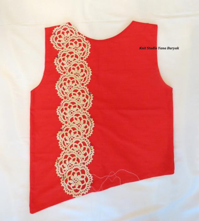 блуза, кружево ручной работы