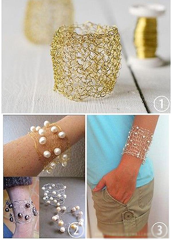 потрясающие вязаные браслеты серьги колье 150 прекрасных