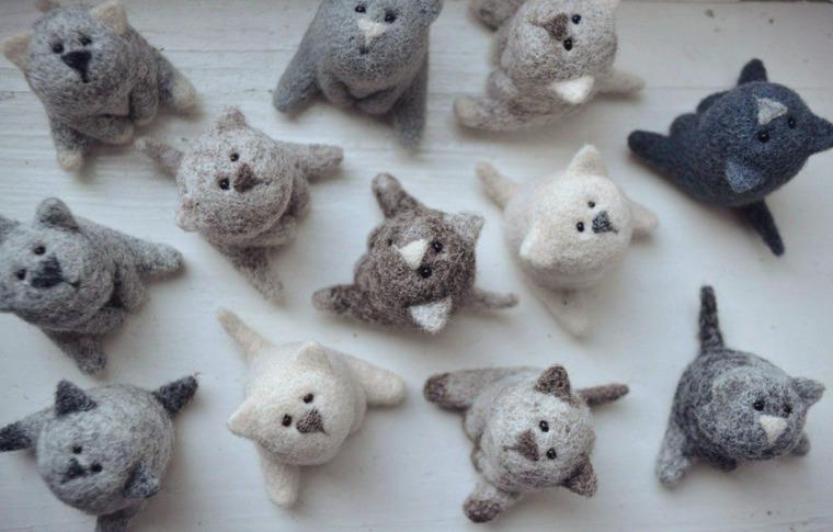 валяние, мастер-класс по валянию, кот, игрушка, валяние миниатюры, мастер-класс в москве