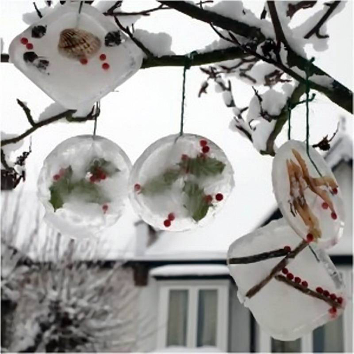 Как украсить двор своими руками на новый год фото