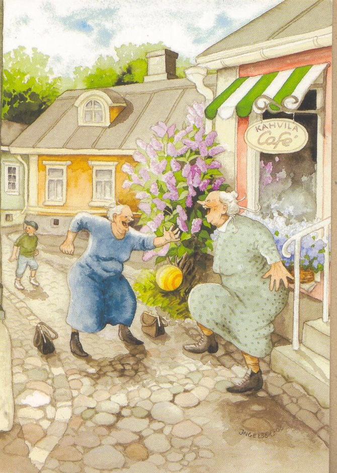 Открытки озорные бабушки