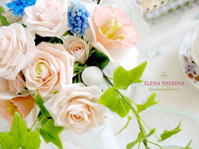 цветы из полимерной глины, бруния