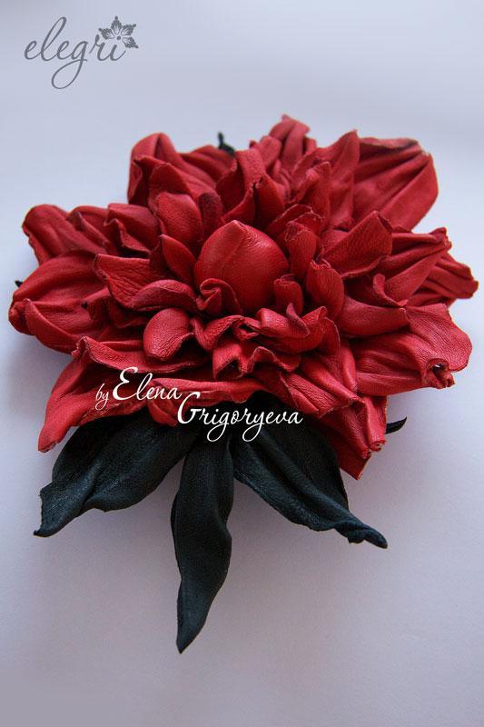 обучение цветоделию, мастер-класс по розе, роза красная, авторские цветы, роза мастер-класс
